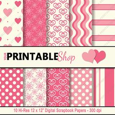 INSTANT DOWNLOAD  Valentine's Day  Shades of by YourPrintableShop