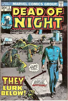 Dead of Night 3 Horror comic Scary Halloween #horrorcomic 1973 #marvelcomics