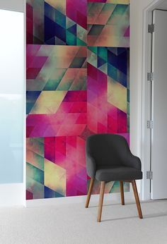 Create A Captivating Accent Wall With Geometric-Patterned Wall Tiles