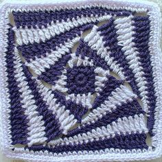 Another Pinner wrote: What a fabulous crochet block!!! Look for the link to the tutorial in the comments on Flickr