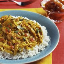 Crock-Pot Chicken Curry with Chicken Breasts and Rice: Chicken Curry and Rice
