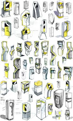 Image result for industrial design sketches kiosk