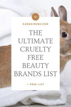 Cruelty-Free Brands List (updated 2021) - Kabuki Rune