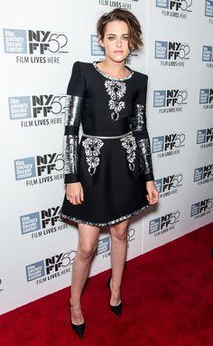 Kristen Stewart & Juliette Binoche at 'Clouds of Sils Maria' Premiere in NY - Oct 2014. Kristen in Chanel.