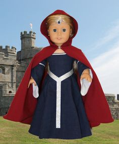 Arts and Crafts for your American Girl Doll: Medieval Cape for American Girl Doll