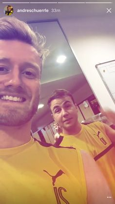 """Mario Götze y André Schürrle: """" We can see you in the back, Marco!  """""""