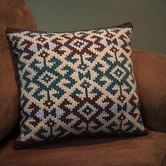 Kilim Pillow knitting pattern PDF on Ravelry.