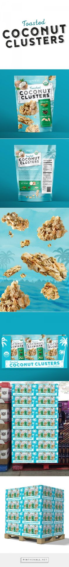 Toasted Coconut Clusters  - Packaging of the World - Creative Package Design Gallery - http://www.packagingoftheworld.com/2016/07/toasted-coconut-clusters.html