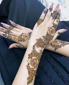 Arabic Bridal Mehndi Designs, Pretty Henna Designs, Floral Henna Designs, Latest Henna Designs, Engagement Mehndi Designs, Beginner Henna Designs, Mehndi Designs Book, Modern Mehndi Designs, Mehndi Designs For Girls