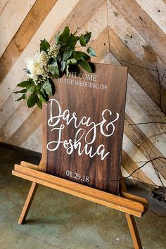 Wedding Welcome Sign with Personalized Names on Wood or Mod Style Calligraphy Wedding Style Artwork Wedding Signage, Rustic Wedding, Wedding Day, Handmade Wedding, Wedding Bells, Glitter Table Numbers, Wedding Photo Props, Wedding Shirts, Wedding Welcome Signs