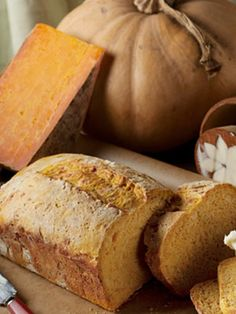 Pumpkin Cheese Bread: This loaf manages to be both sweet and savory--the perfect precursor to the formal meal.