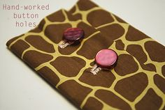 Hand-worked button holes
