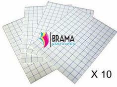 10 Hojas de Papel Transfer para Camisetas Blancas y Telas de Algodon para impresoras Epson, Brother, Canon, Hp etc Ref. 10 X CAM-AL-B