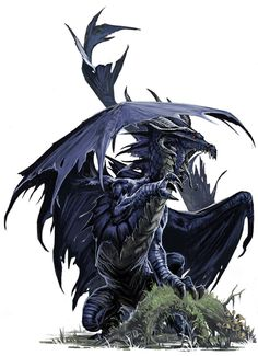 Young Black Dragon by BenWootten on deviantART #art #painting
