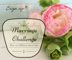 Announcement  I am so excited to finally announce that I have collaborated with Madison to host a 14 day Valentine's marriage challenge! Sign Up!! When you sign up, starting February 1st, you will receive an email each day from either Madison or me up until Valentine's Day. Each email will address: a common problem...Read More