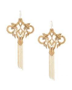 Beautiful geometric inspired earrings by malleka .,