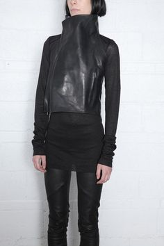 Leather Vest by OBSCUR available at www.cendre.ca