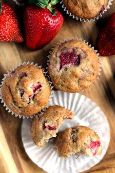 Strawberry Banana Muffins | Melanie Makes