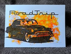 Tim Holtz - Road trip - One layer card - Vintage car