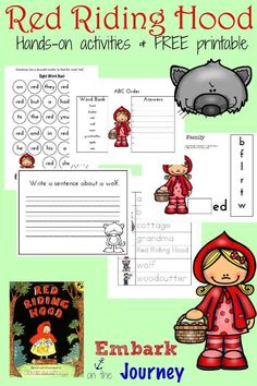 Her's a fun collection of Red Riding Hood hands-on activities and a FREE…