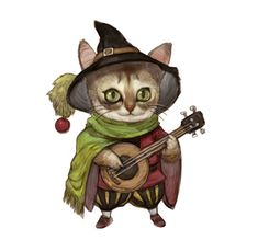 Kittens dressing up as fantasy RPG characters