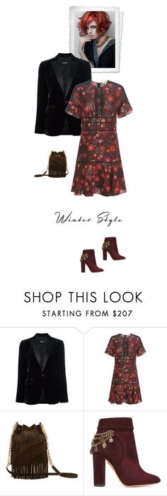 """""""Unbenannt #6896"""" by pretty-girl-in-fashion ❤ liked on Polyvore featuring Dsquared2, Burberry, Elizabeth and James, Aquazzura, ElizabethAndJames, dsquared2 and winterstyle"""