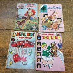 Comic Books Little Lotta Devil Kids Flintstones Johnny Appleseed Craft Vintage Art Repurpose Decoupage Craft Lot by KoolKoolThangs on Etsy