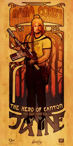 Beautiful Damn Heroes, Part 2: Art Nouveau Tributes to the Men of Firefly