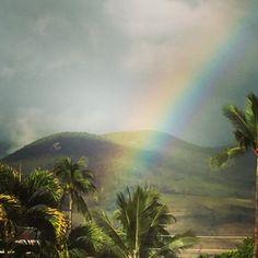 Rainbow from Lahaina Harbor, Maui. Wowie!