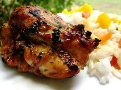 Thai Grilled Chicken Thighs Recipe TIP: Used chicken breasts instead of thights; cooked in the cast iron skillet
