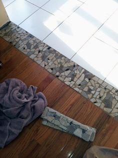 Top 70 Best Tile To Wood Floor Transition Ideas - Flooring Designs - Nice Tile To Wood Floor Transition Interior Ideas - Wooden Floor Tiles, Wood Tile Floors, Laminate Flooring, Flooring Ideas, Dark Flooring, Tile To Wood Transition, Transition Flooring, Living Room Flooring, Kitchen Flooring
