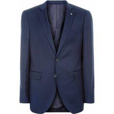 Jaeger Wool Slim Plain Twill Jacket (19.715 RUB) ❤ liked on Polyvore featuring men's fashion, men's clothing, men's outerwear, men's jackets, mens single breasted jacket, mens wool outerwear, mens slim fit jackets, mens twill jacket and mens slim jacket