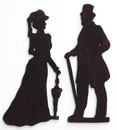 Male Victorian Couple Toilet Sign