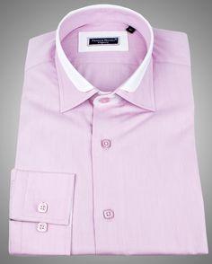 Men's designer shirts 100% cotton -Lyon milleret light pink ...