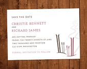 Finally a wedding invitation for skiers! Wish I had this 25 years ago. : )