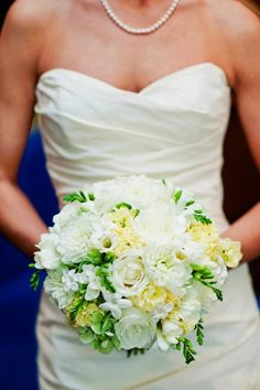 Ivory and Green Bridal Bouquet