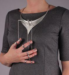 """Jennifer Crupi - Ornamental Hands: Figure Three (sterling silver, 18.75"""" x 8.5"""" x 3"""")"""