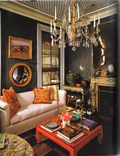 .classical decorating with a surprise of orange