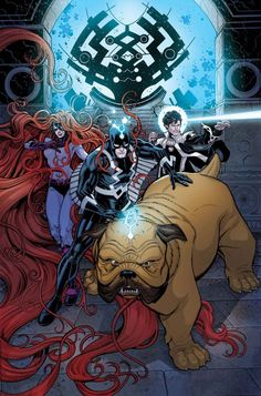 Ryan North And Gustavo Duarte's Two Page Lockjaw Stories In Every Issue Of Inhumans: Once And Future Kings
