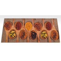 Slaughter Digital Spices Market Kitchen Mat Longweave Mat Size: Rectangle 60 x Coir Doormat, Food Dye, Recycled Rubber, Kitchen Mat, Ron, Hazelwood Home, Exterior Paint, Unique Colors, Home Collections