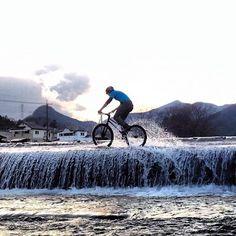 a little wet riding.