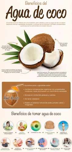 agua-coco Healthy Tips, Healthy Recipes, Healthy Fruits, Natural Home Remedies, Tea Recipes, Health And Nutrition, Health Remedies, Food Hacks, Natural Health