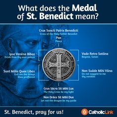 """catholiclink-en: """" Infographic: What does St. Benedict's medal mean? """""""