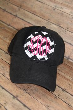 2839e9132f6 Items similar to Raggy Circle Monogrammed Baseball Cap on Etsy