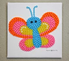 Repeat Crafter Me: Pony Bead Butterfly
