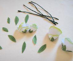 DIY matériel utilisé pour les roses en papier