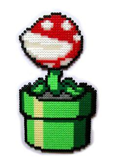 Super Mario Piranha Plant hama perler bead sprite by AenysBeadArt