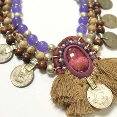 Enlightened Tribe - a statement necklace for courage and unconditional love