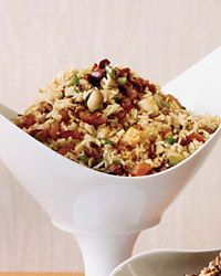 Golden Basmati Rice with Apricots: This luxe rice, studded with apricots and crisp apple, is inspired by an ancient Persian dish that was made for the royal court.