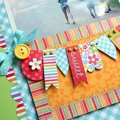 Doodlebug Design: Soak Up the Sun with Shellye and Sherry - scrapbook Baby Scrapbook, Scrapbook Paper Crafts, Scrapbook Cards, Couple Scrapbook, Wedding Scrapbook, Candy Cards, Scrapbook Embellishments, Kirigami, Card Tags